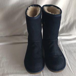 UGG girls navy blue boots Sz 1